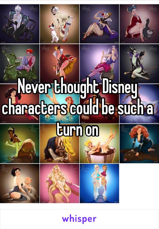 Never thought Disney characters could be such a turn on