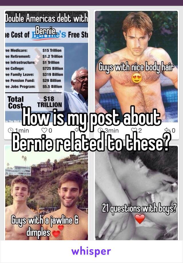 How is my post about Bernie related to these?