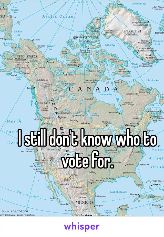 I still don't know who to vote for.