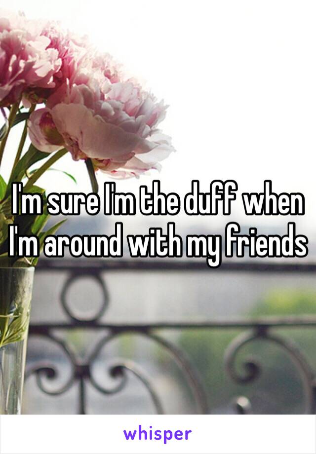 I'm sure I'm the duff when I'm around with my friends