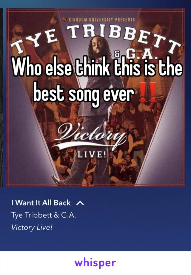 Who else think this is the best song ever‼️