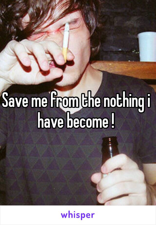 Save me from the nothing i have become !