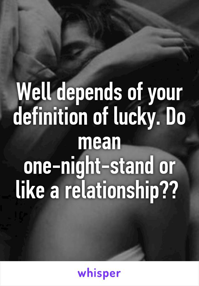 One night stand definition