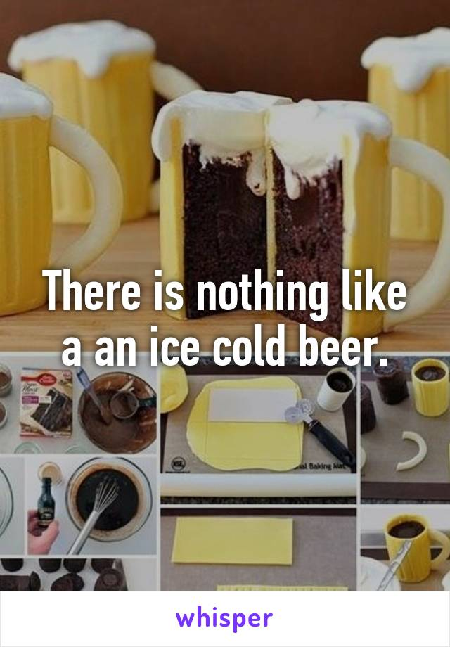 There is nothing like a an ice cold beer.