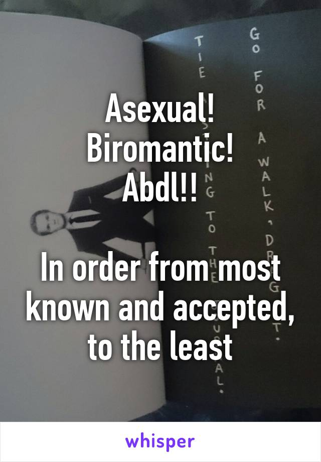Asexual will i be accepted
