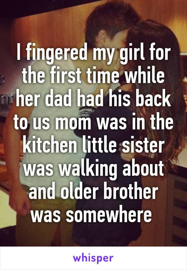 I Fingered ass