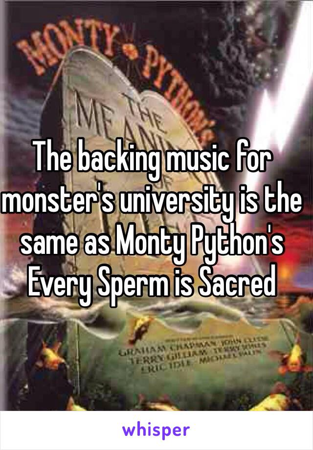 is sacred sperm music Every