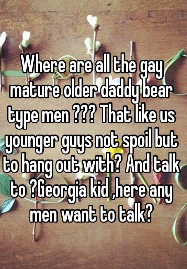 Authoritative daddy bear men mature