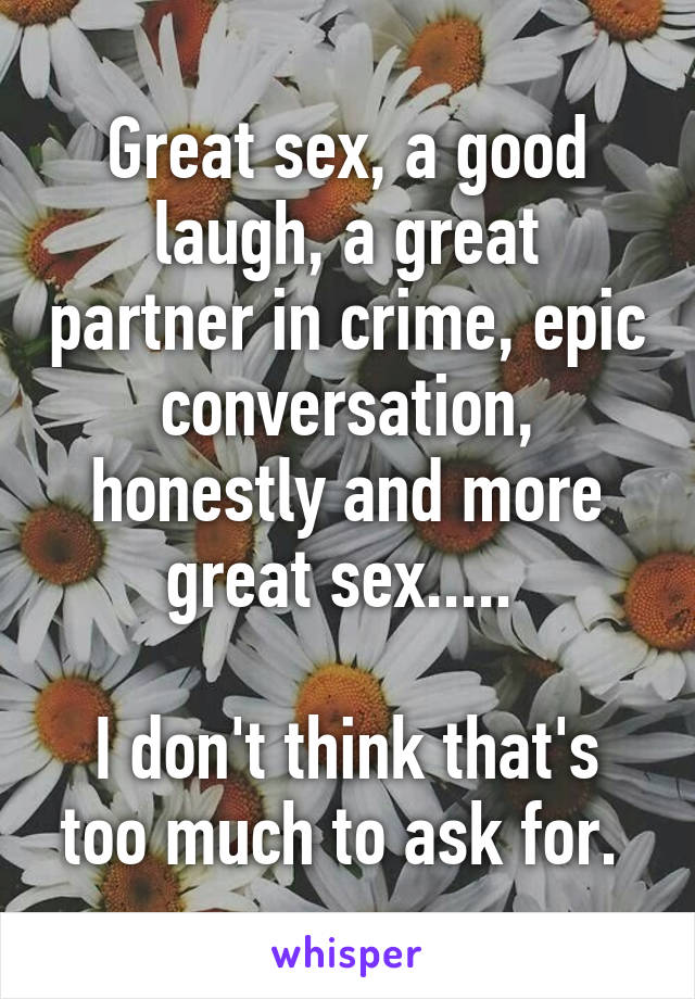 Great sex with partner