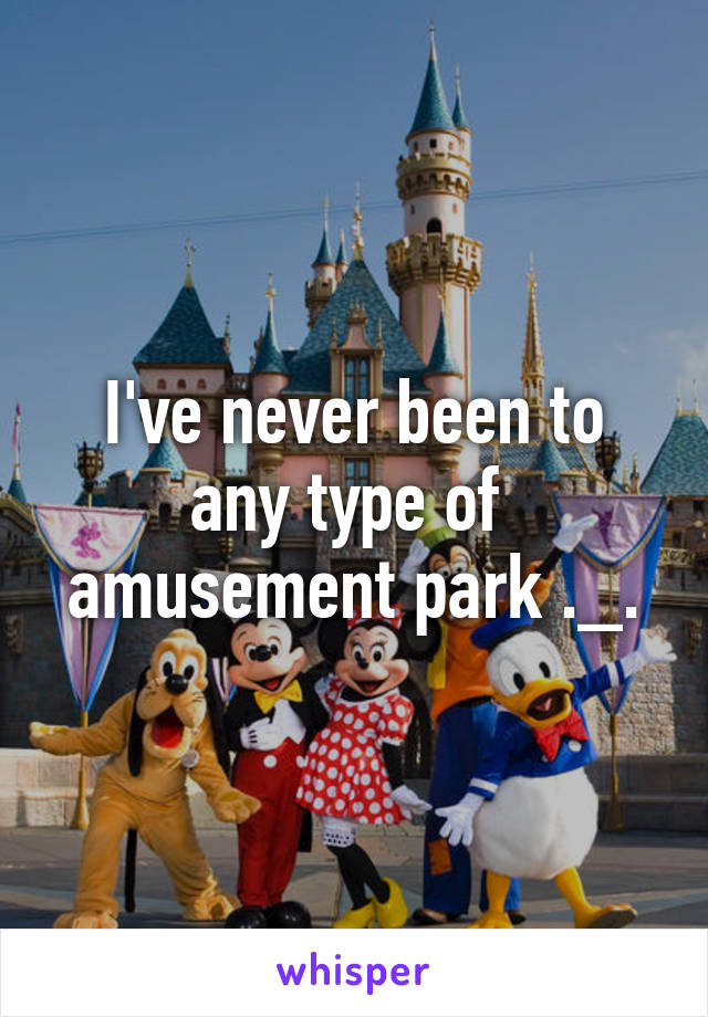 I've never been to any type of  amusement park ._.