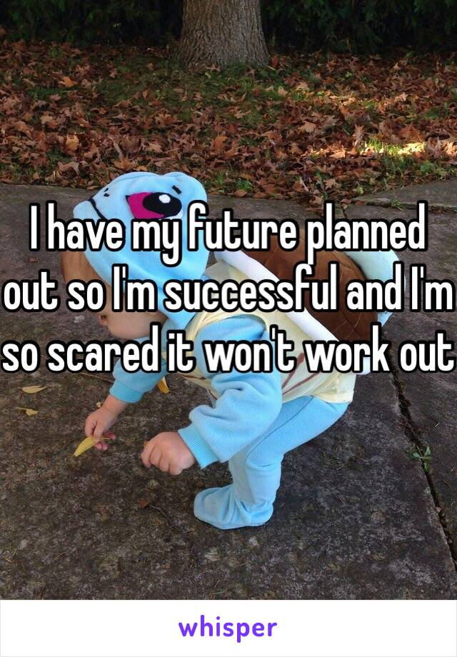 I have my future planned out so I'm successful and I'm so scared it won't work out