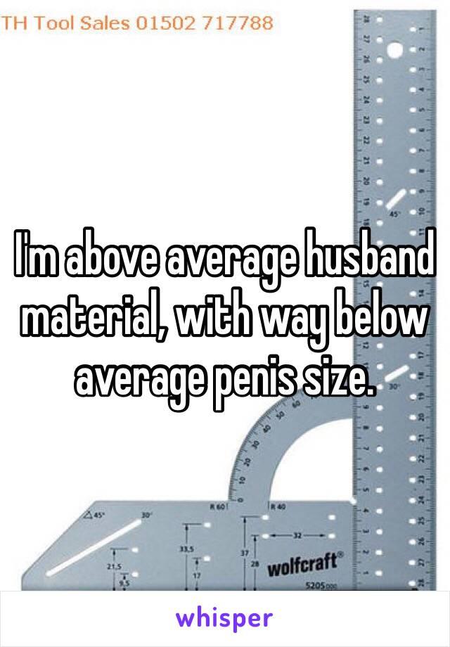 Below average penis size