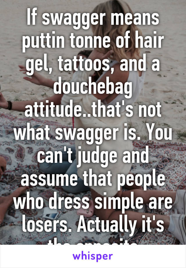 Swagger means