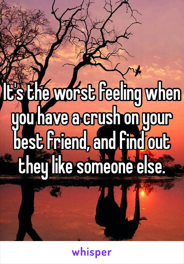 It's the worst feeling when you have a crush on your best friend, and find out they like someone else.