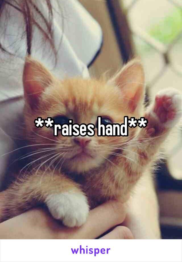 **raises hand**