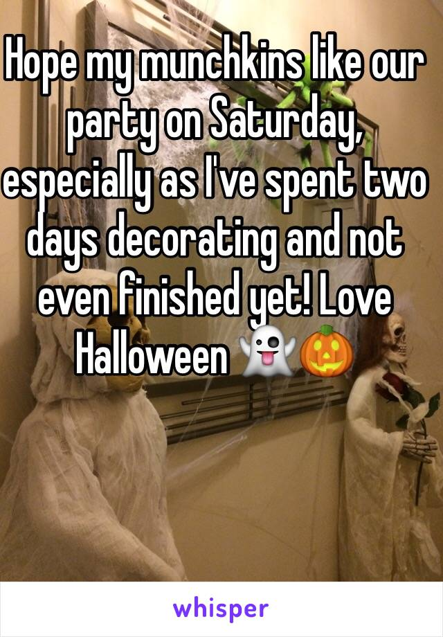 Hope my munchkins like our party on Saturday, especially as I've spent two days decorating and not even finished yet! Love Halloween 👻🎃