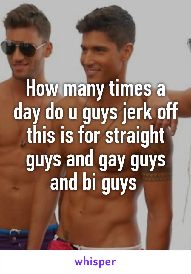 Opinion do men jack off