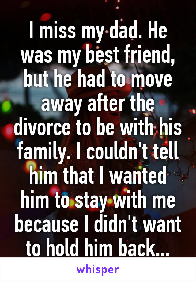 Moving in with someone after divorce