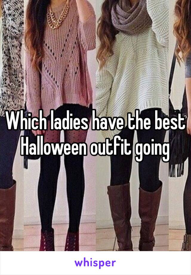 Which ladies have the best Halloween outfit going