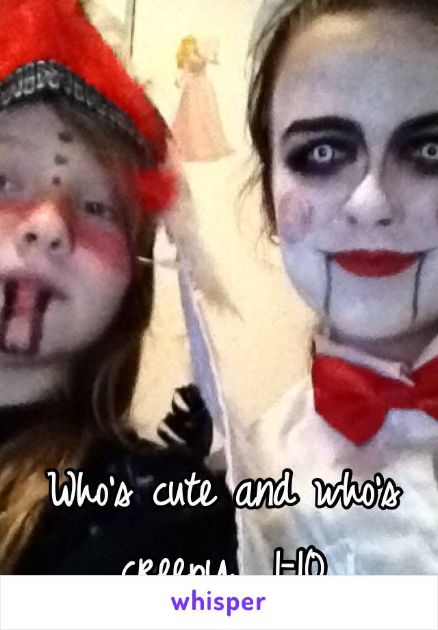 Who's cute and who's creepy  1-10