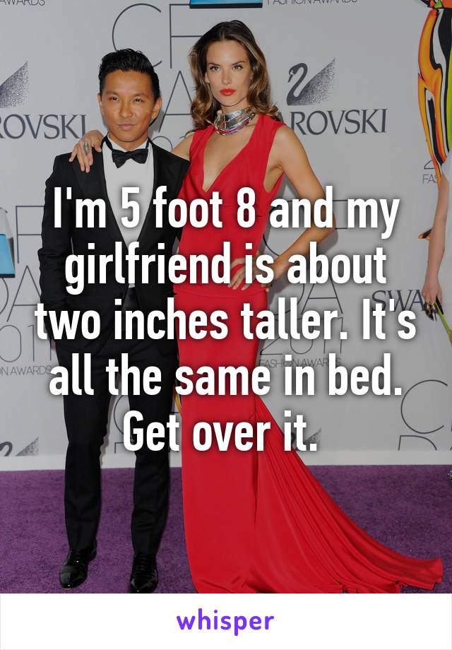 dating a guy two inches taller