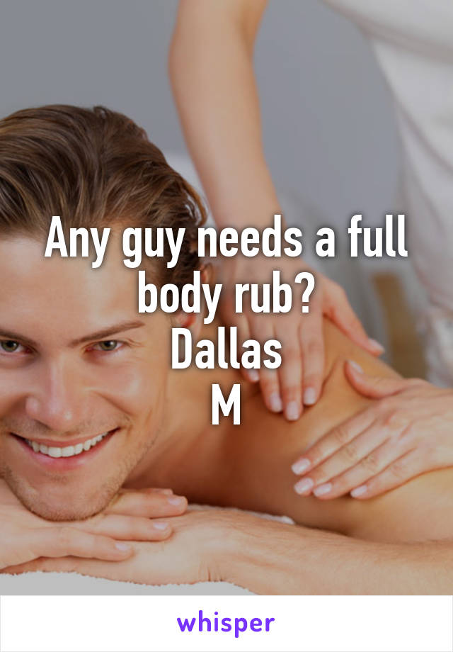 Adult body rub
