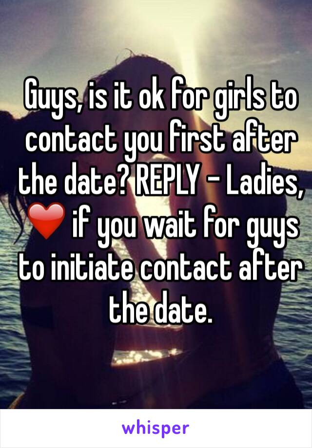 Contact after first date