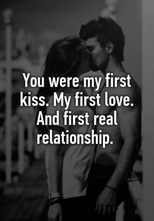 first kiss relationship