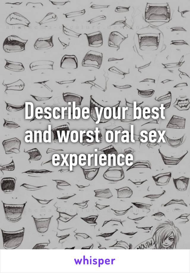 Описать лучший секс