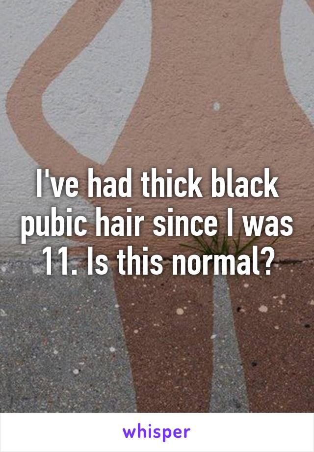 Pubic hair thick Photographer posts