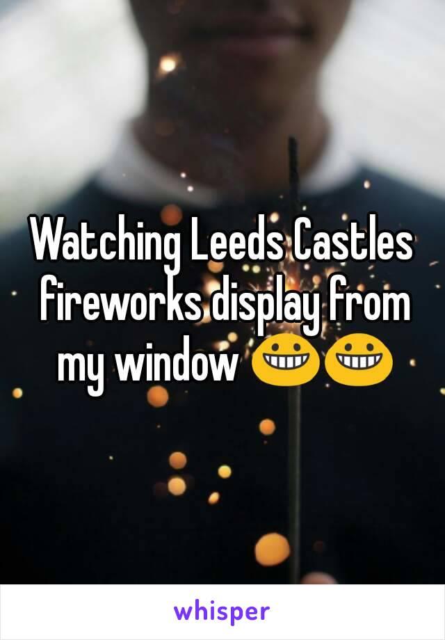 Watching Leeds Castles fireworks display from my window 😀😀