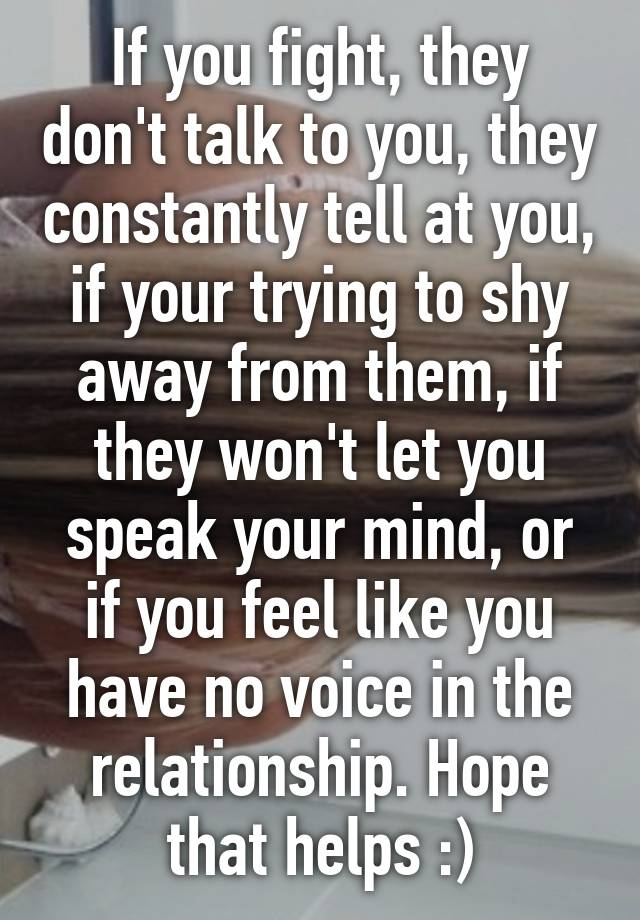 how to speak your mind in a relationship