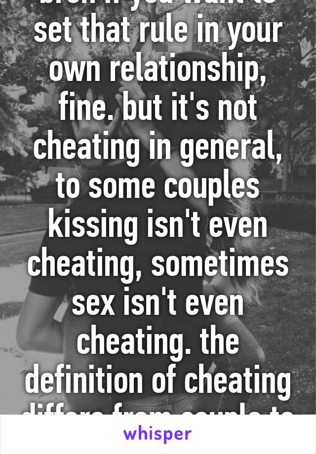 the meaning of cheating in a relationship