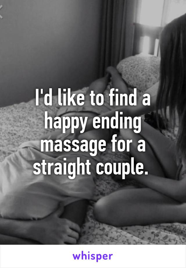 straight Happy ending massage