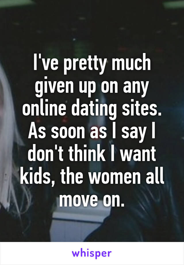 Dont give up on online dating