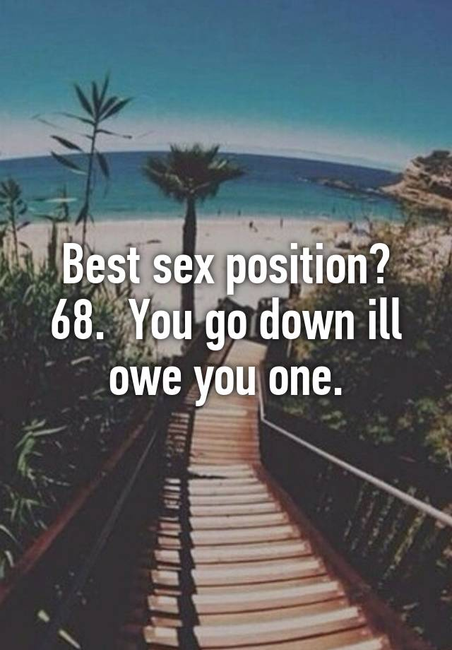 Going down sex position