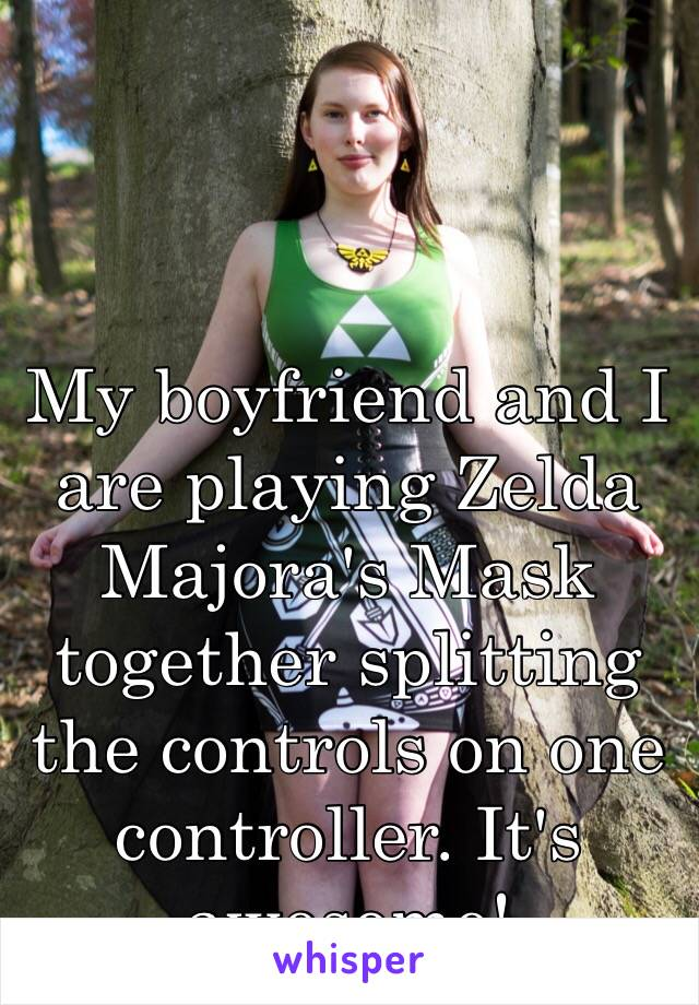 My boyfriend and I are playing Zelda Majora's Mask together splitting the controls on one controller. It's awesome!