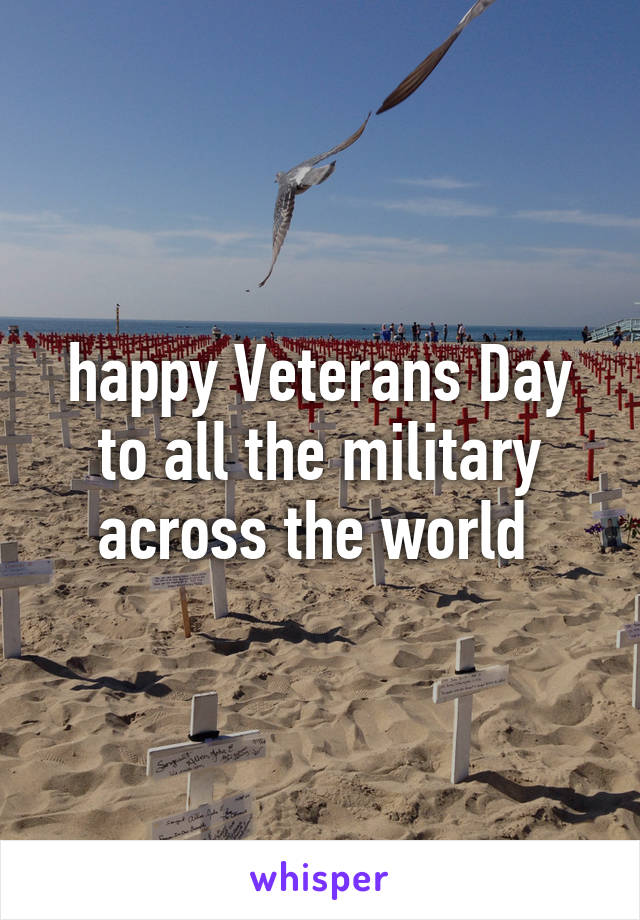 happy Veterans Day to all the military across the world