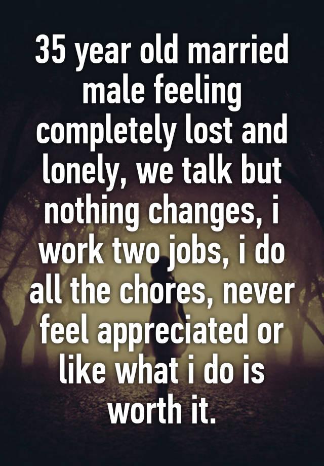married man feeling lonely