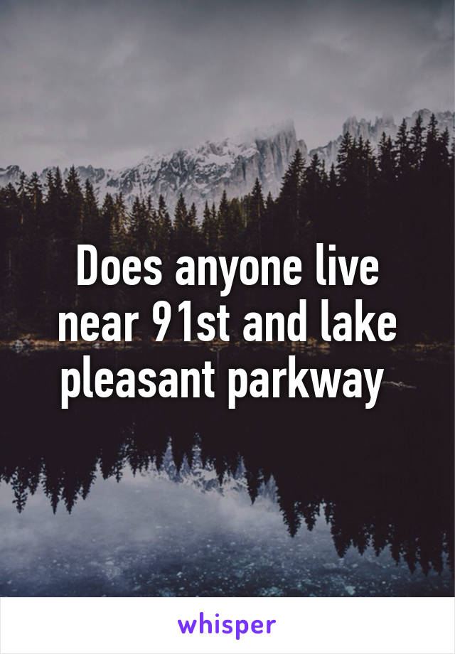 Does anyone live near 91st and lake pleasant parkway