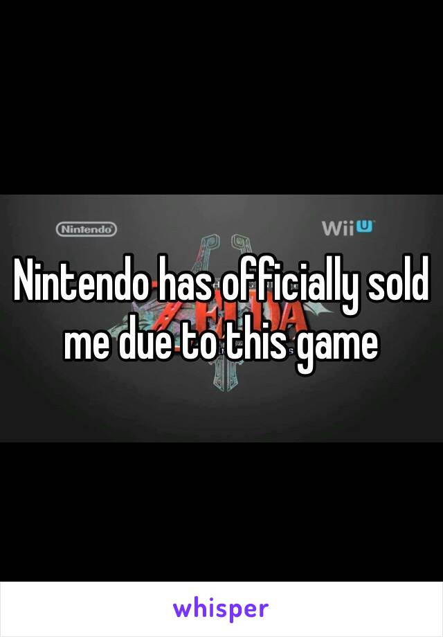 Nintendo has officially sold me due to this game
