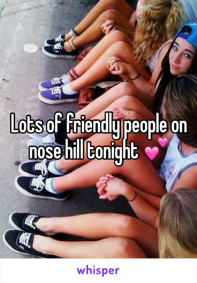 Lots of friendly people on nose hill tonight 💕