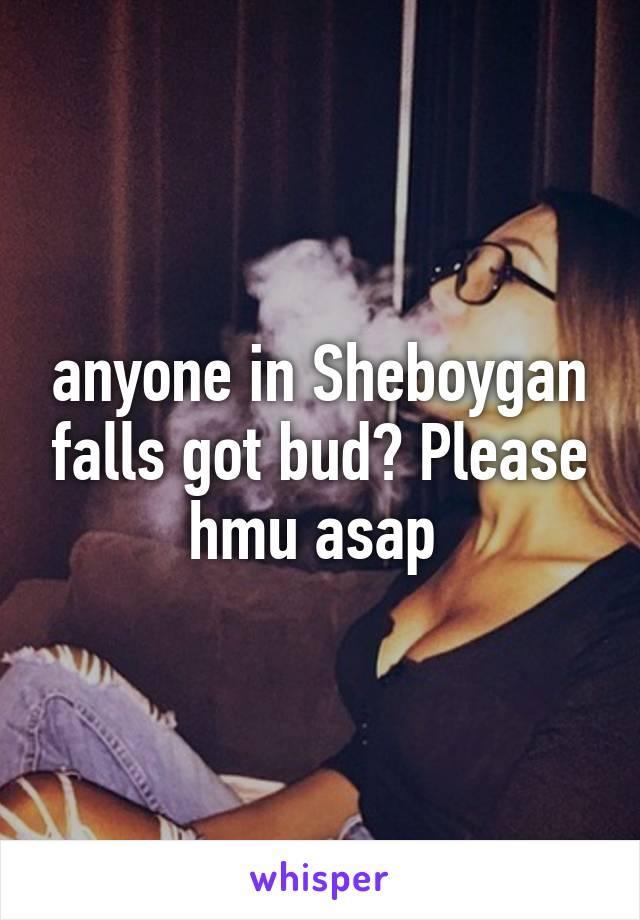 anyone in Sheboygan falls got bud? Please hmu asap