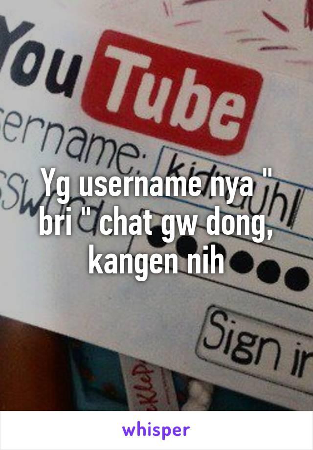 Yg username nya