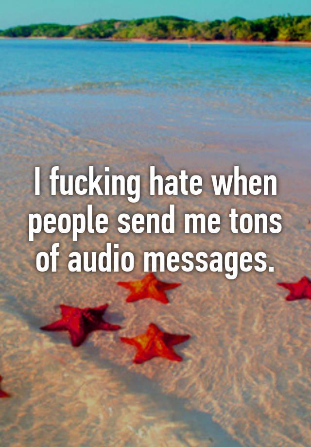 Same, people fucking audio think, that