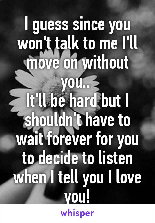 あなたなしで私は待っています