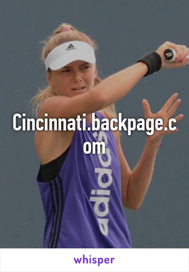 Cincinnati backpage classifieds