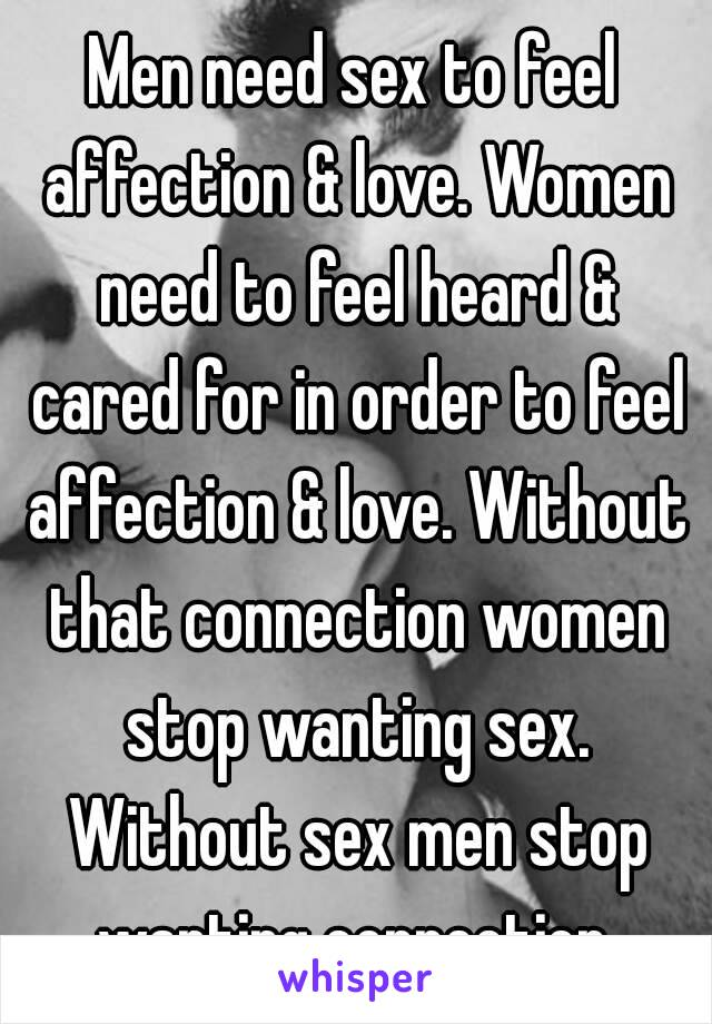 Sex feel loved by man