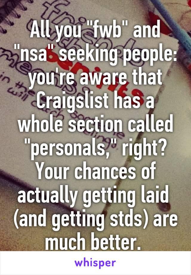 Using craigslist to get laid