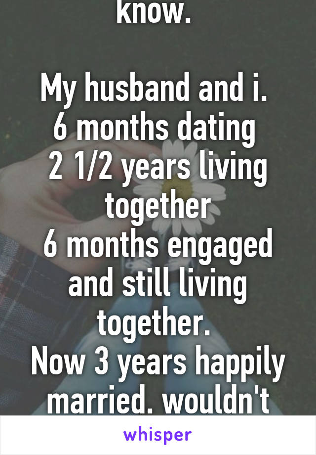 married after 6 months of dating